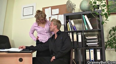 His wife, Sexy granny, Mature office