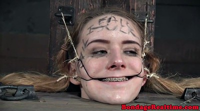 Opening, Open mouth, Gagged, Teen close up