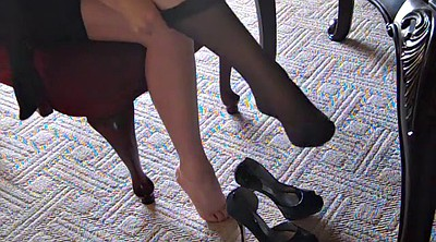 Silk, High, Silk stockings, High heels, Stockings foot