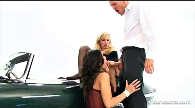 Threesome, Big ass anal, Ffm anal, Orgasm anal, In car