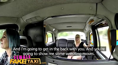 Fake taxi, Fake, Wrestling, Female fake taxi, Female taxi, Lesbians wrestling
