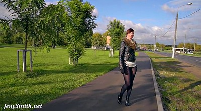 Public outdoor flash, Pantyhose public, Legs