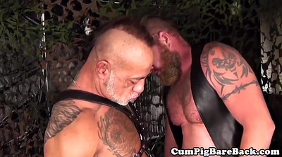 Mature anal, Leather anal