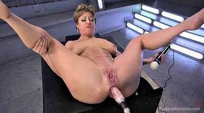 Mom, Machine, Anal squirt, Mom orgasm, Fuck machine, Busty mom