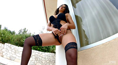 Solo stockings, Ebony big tits, Stockings solo, Solo big tits, Posing, Pose