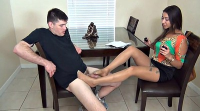 Nylon footjob, Nylon feet, Nylon foot