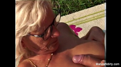 Grandma, Mature outdoor, Glass, Mature glasses, Granny outdoor