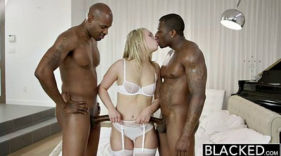 Threesome, Interracial threesome, Blonde small tits, Bbc blonde