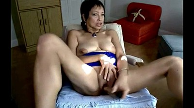 Asian granny, Mature masturbate
