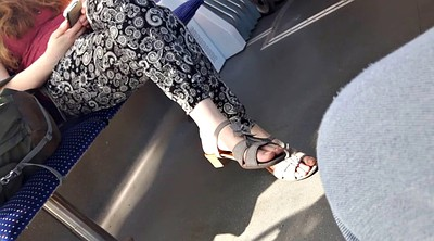 Feet show, Bus, Model, Germany, Foot show