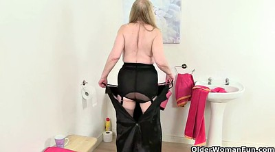 Red, Stockings solo, Stocking mature, Solo granny, Big tit granny, Amateur stocking
