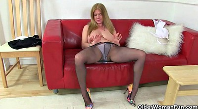 British mature, Milf nylon, Mature nylon