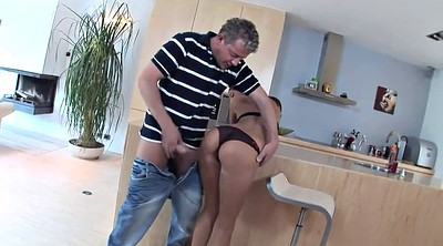 Small girl, Kitchen sex