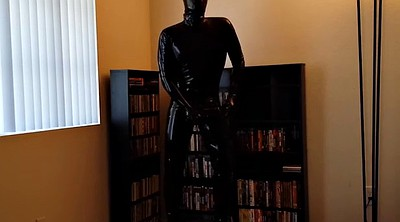 Library, Nylon bondage, Gimp, Gay bondage, Solo dress