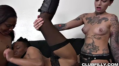Chanel, Punk, Interracial threesome, Leigh raven