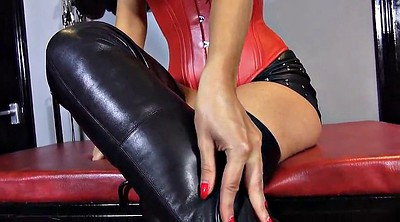 Boots, Leather, Foot pov, Hot milf, Search, German femdom