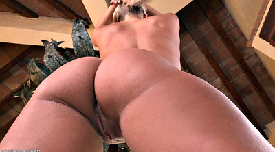 Ass solo, Balcony, Solo shaved fingering