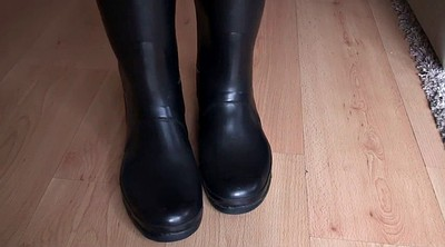 Latex, Boot, Rubber, Latex fetish, Hunter, Latex boots