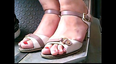 Bus, Closeup, Mature feet, Mature hd, Candid feet, Mature foot