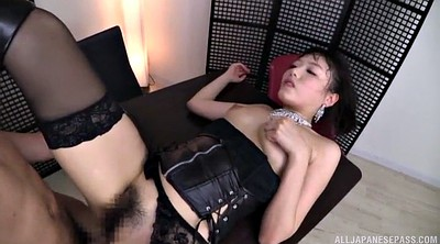 Asian, Nylon handjob, Japanese stocking, Japanese lick, Leather, Asian nylon