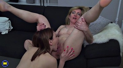 Daughter, Lesbian mom, Mature mom, Old and young, Mom and daughter, Mom lesbian