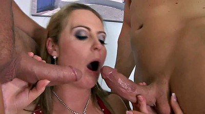 Double anal, Red milf, Red pussy