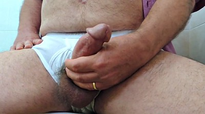 Wank, Mature gay, Underwear, Daddy cum, Big daddy gay