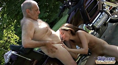 Clit, Grandpa, Teen girl, Lick, Grandpas