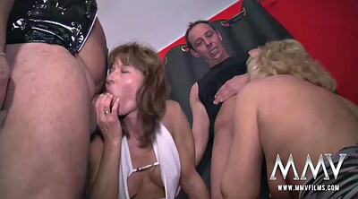Mature group, Mature swingers, Caged
