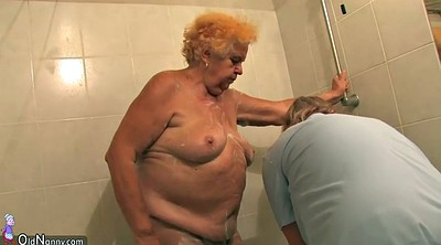 Bbw granny, Threesome shower, Bbw amateur