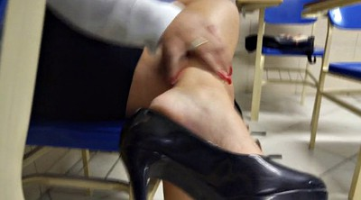 High heels, Shoeplay, Leg, High