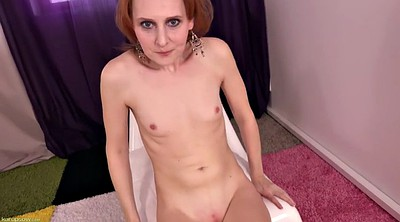 Couple, Redhead solo, Skinny orgasm, Shaved solo