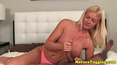 Mature handjob, Edge