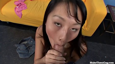 Gagging, Throated, Deepthroat asian, Asian deepthroat