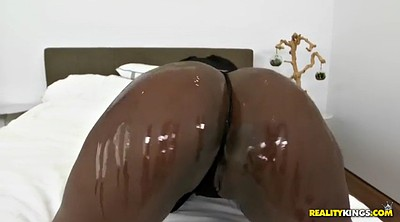 Monster cock, Oiled, Monster, Black monster tits