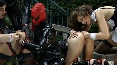 Anal fist, Latex anal, German latex, Ebony latex, Latex bdsm, Interracial orgy
