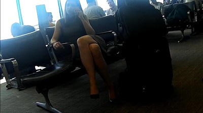 Candid, Foot crossing, Cross leg, Cross, Airport
