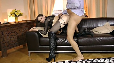 Old and young, Pantyhose fuck, Old lady