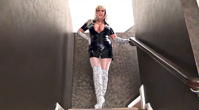 Latex, Glove, Gloves, Milf boots, Boots fetish