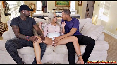 Black mom, Two dick, Ebony mom