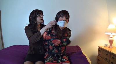 Crossdress, Sandra, Monica, Crossdresser bondage