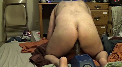 Huge toy, Riding dildo, Amateur chubby