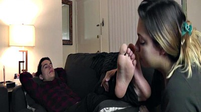My wife, Foot lick