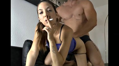 Teen handjob, Smoke