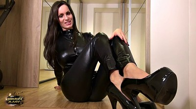 Feet, Blacked, Latex fetish, Suit