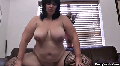 Plump, Fishnet, Ebony riding, Bitch