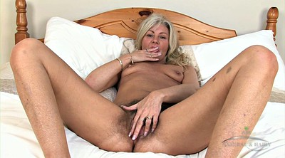 Mature solo, Granny solo, Hairy blonde, Mature hairy solo