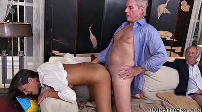 Old men, Young threesome, Victoria, Mexican threesome