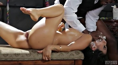 Asa akira, Bride, Cumshot, Black asian, Milf facial