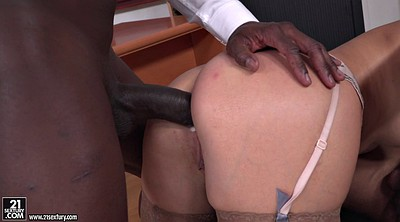 Dp creampie, Double anal, Secretary, Interracial creampie